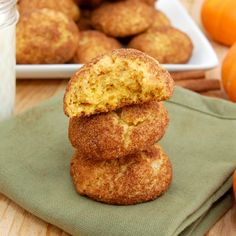 Pumpkin Snickerdoodles. Tried and loved. Use full cup of pumpkin instead 3/4 a cup