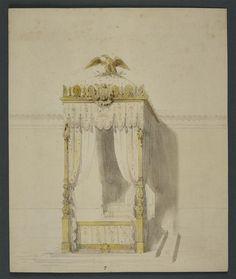 Projet pour le lit du Prince impérial, Henri Auguste