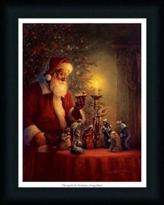 The Spirit Of Christmas Nativity Scene Framed Art Print Wall Décor Picture #FramedArtbyTilliams
