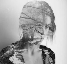 """Matt Wisniewski - """"He creates digital collages by blending fashion and nature photographs together. The aim of his work is to create surreal images."""""""