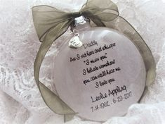 Father/Mother Memorial Ornament, As I Sit Here and Whisper, with charm Elf Christmas Decorations, Christmas Crafts For Adults, Family Christmas Ornaments, Memorial Ornaments, Christmas Elf, Simple Christmas, Christmas Wreaths, Xmas, Father Christmas