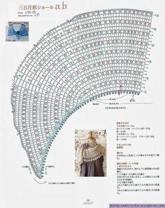 Lekker crea bezig: Patroon halve maan shawl met ned vertaling