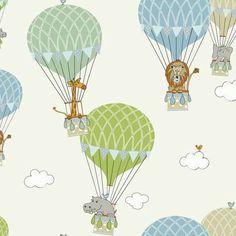 Curtains for the nursery... Zoo Animals Fabric | Dunelm