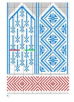 Knitted Mittens Pattern, Knit Mittens, Mitten Gloves, Knitting Socks, Knitting Charts, Knitting Stitches, Knitting Patterns, Knit Art, Cross Stitch Tree