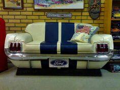 Mustang seating! Love it!