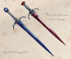 A Rider's sword was an elegant blade made specially by the elven smith Rhunön, for each Dragon Rider, should they choose to wield one. All of the blades were crafted out of brightsteel and each blade was the color of its bearer's dragon. As Brom describes in Eragon, the riders sword's will never break and will never rust. Rider's swords are shown to cut through iron with ease. When Eragon I first established the Riders, they may not have used swords forged by Rhunön, for at that time they...