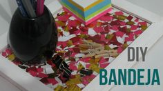 DIY - Bandeja decorada com papel picado