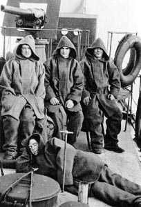 WWII Royal Navy Sailors in their Duffel Coats