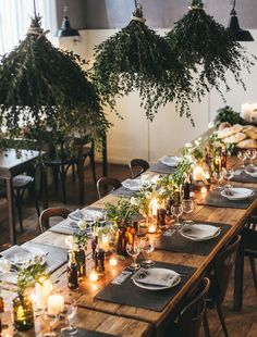 Love this table setting... so cosy and inviting! Wouldn't you love to have dinner here? Photo by giuli&giordi