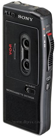 Sony BM 575 hand held micro cassette recorder with slide switch operation. *DISCONTINUED* SON-BM575. Contact us today for refurbished availability and replacement options 877-387-2838 www.dtpss.com