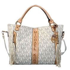 Michael Kors Logo Signature Large Vanilla Totes Outlet