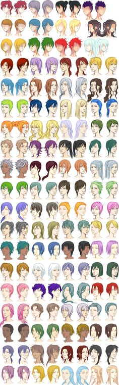 Male Hairstyle Reference Sheet by dawniechi