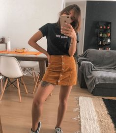 cute teenager outfits to inspire every woman page 4 Teenage Outfits, Edgy Outfits, Cute Casual Outfits, Skirt Outfits, Outfits For Teens, Summer Outfits, Fashion Outfits, Look Con Short, Casual T Shirt Dress