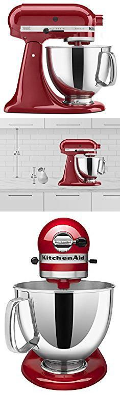 Kitchenaid Cake Mixer. KitchenAid KSM150PSER Artisan Tilt-Head Stand Mixer with Pouring Shield, 5-Quart, Empire Red.  #kitchenaid #cake #mixer #kitchenaidcake #cakemixer