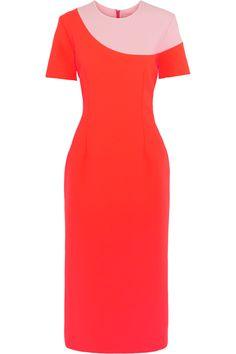 ROKSANDA Selwyn Neon Color-Block Brushed-Felt And Jersey Paneled Dress. #roksanda #cloth #dress