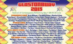 Line-up Glastonbury festival