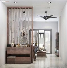 Marvelous Divide Room Decoration Ideas That Look More Comfort 01 - Raumteiler Mid Century Modern Living Room, Living Room Modern, Living Room Designs, Small Living, Modern Bedroom, Living Room Partition Design, Room Partition Designs, Partition Ideas, Room Partition Wall