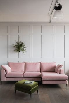 Pink sofa and flooring in living room, Ted Todd and Rose & Grey | Living Room Ideas | Floors | Interior Design | Real Homes Living Room Wood Floor, Living Room Flooring, Living Room Paint, Living Room Carpet, Rugs In Living Room, Living Room Decor Colors, Living Room Green, Living Room Designs, Fashion Art