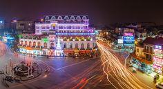 Hanoi near the Sword lake at night!