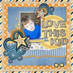 kid scrapbook layouts   Love This Kid - Scrapbook.com