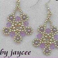 Netting Stitch: Silver Moon Earrings Tutorial
