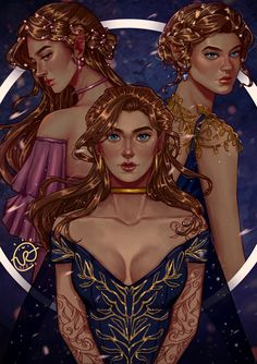 A Court Of Wings And Ruin, A Court Of Mist And Fury, Charlie Bowater, Roses Book, Feyre And Rhysand, Fanart, Sarah J Maas Books, Throne Of Glass Series, Crescent City