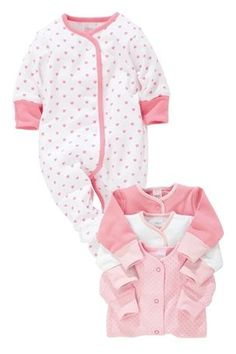 Buy Pink Sleepsuits Four Pack (0mth-2yrs) from the Next UK online shop