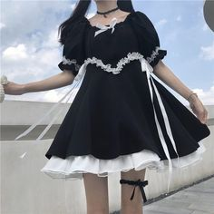 Harajuku Mode, Harajuku Fashion, Kawaii Fashion, Lolita Fashion, Cute Fashion, Cute Summer Dresses, Cute Dresses, Vintage Dresses, Girls Dresses