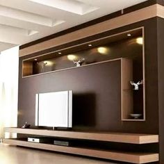 Modern and elegant TV wall design. Living room tv Boho So … Modern and elegant TV wall design. Living room tv Boho So … - Mobilier de Salon Tv Unit Decor, Tv Wall Decor, Wall Tv, Tv Storage Unit, Tv Unit Furniture Design, Tv Wall Furniture, Tv Wanddekor, Tv Wall Cabinets, Modern Tv Wall Units