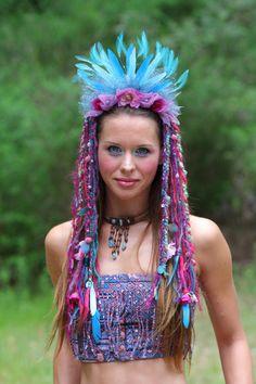 Flower Feather Headdress