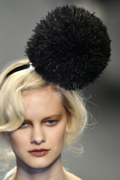 Sonia Rykiel Feather Pom Pom Headbands | The Terrier and Lobster