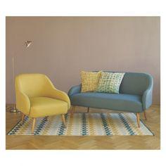 BLAINE Medium blue and green patterned rug 140 x 200cm | Buy now at Habitat UK
