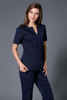 Cheap hospital medical, Buy Quality scrub clothes directly from China designer medical scrubs Suppliers: 2017 Summer women hospital medical scrub clothes set dental clinic and beauty salon nurse uniform fashionable design slim fit Safety Workwear, Scrubs Uniform, Medical Scrubs, Nurse Scrubs, Scrub Sets, V Cuts, Outfit Sets, Work Wear, Dresses For Work