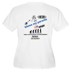 BACK SIDE OF THE WOMENS V NECK BLAME MY PARENTS SHIRT   GO HERE TO ORDER AND SEE BOTH SIDES http://www.cafepress.com/cp/customize/product2.aspx?from=CustomDesigner&number=1224958411