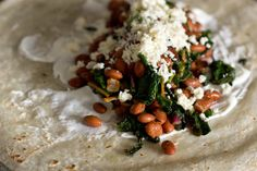 Swiss Chard, Pinto and Bacon Burritos - The Witch in the Kitchen