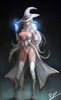 The White Witch - fantasy art