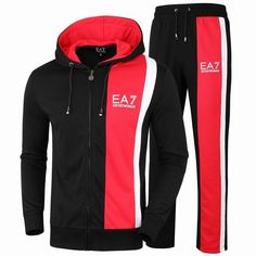 533328f24381e3 Replica Emporio Armani Men Sport Suit Brand Slim Fit Hooded Top+Full Pant  Casual Tracksuit Hoody Sportwear Men Sweatshirt Set