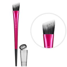 SEPHORA COLLECTION I.T. Cream Blush Brush by SEPHORA COLLECTION. $11.00. What it is:A flat brush for blending cream or liquid blushes. What it does:This brush applies cream or liquid blush, allowing you to add concentrated color smoothly, precisely, and without streaks. Synthetic Takelon nylon bristles form a high-density angled brush head that's ideal for sweeping the curve of the cheekbones and hollows of the cheeks. The cone-shaped stem allows you to grip near the b...
