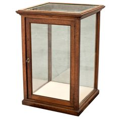 Oak/ Glass Display Cabinet at Oak Display Cabinet, Wood Display, Vintage Furniture, Modern Furniture, Cheap Furniture, Picture Frame Display, Picture Frames, Glass Display Case, Watch Display