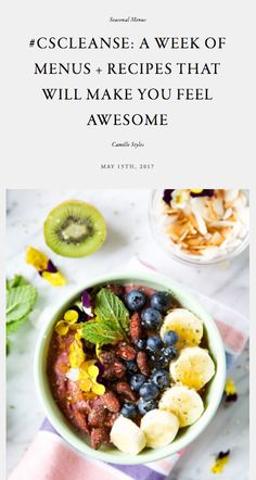 #CSCleanse: A Week of Menus + Recipes That Will Make You Feel Awesome