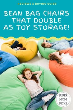 Awesome Bean Bag Chairs that double as toy storage!  The kids will love cleaning up their toys! #supermompicks #momlife #beanbagchairs #toystorage #messyroom #organizationtips #stuffedanimalbeanbag