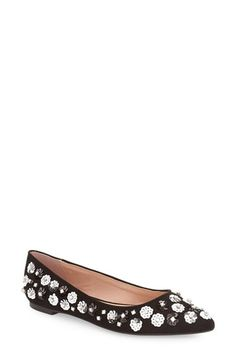 Topshop 'Rose' Embellished Pointy Toe Flat (Women) available at #Nordstrom