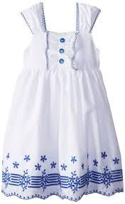 Resultado de imagem para blue and white girls sun dress