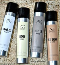 Banish bad hair days with AG's new Simply Dry Shampoo and Root Touch-up!