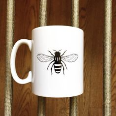 Manchester Worker Bee Mug by TheManchesterBee on Etsy https://www.etsy.com/uk/listing/195162358/manchester-worker-bee-mug