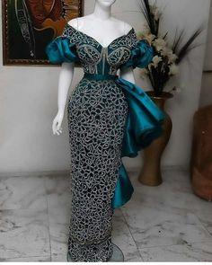 Powerful Aso Ebi Gown Styles For Stylish Women Nigerian Lace Dress, Nigerian Lace Styles, Aso Ebi Lace Styles, African Lace Styles, Lace Dress Styles, African Fashion Ankara, Latest African Fashion Dresses, African Print Fashion, African Wedding Attire