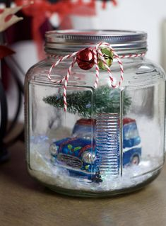 Red Truck Christmas truck with tree mason jar snow globe | Etsy Mason Jar Christmas Gifts, Christmas Crafts For Gifts, Mason Jar Gifts, Christmas Decorations, Holiday Decor, Christmas Snow Globes, Christmas Love, Christmas Truck, Christmas Ideas