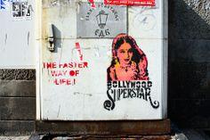 Beogradski grafiti.: The Faster Way of Life / Bollywood Superstar / Njegoševa / TKV #Beograd #Belgrade #Graffiti #Grafiti #StreetArt