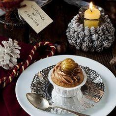 Cupcakes de castanas gallegas. Frosting de queso crema y crema de castanas, delicioso! (in Spanish)