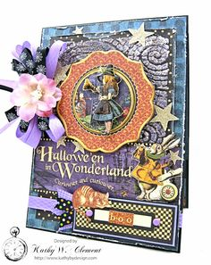 Graphic 45 Halloween in Wonderland Mixed Media card with pocket - Scrapbook.com